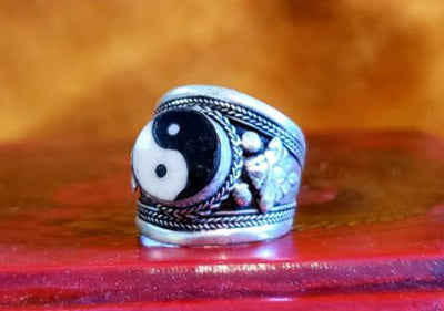 Adjustable Yin Yang Ring -- Culture Cross