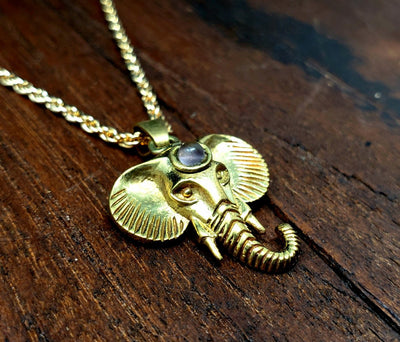 Amethyst Elephant Necklace -- Culture Cross