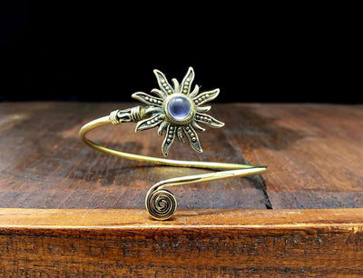 Amethyst Sunburst Bracelet -- Culture Cross