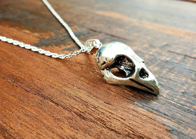 Bird Skull Necklace -- Culture Cross