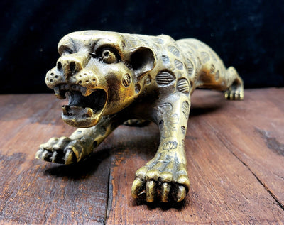 Brass Jaguar Statue -- Culture Cross