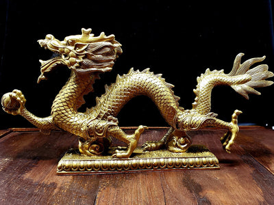 Chinese Dragon Statue -- Culture Cross