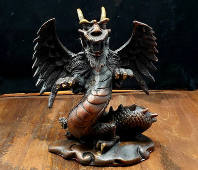 Copper Dragon Statue -- Culture Cross