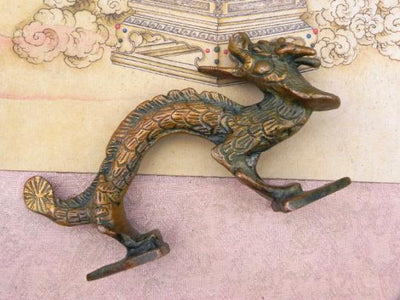 Dragon Door Handle -- Culture Cross