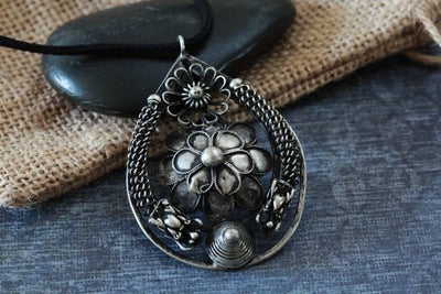 Dragon Flower Hmong Pendant -- Culture Cross