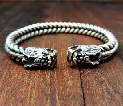 Dragon Tribal Handcrafted Hmong Bracelet -- Culture Cross