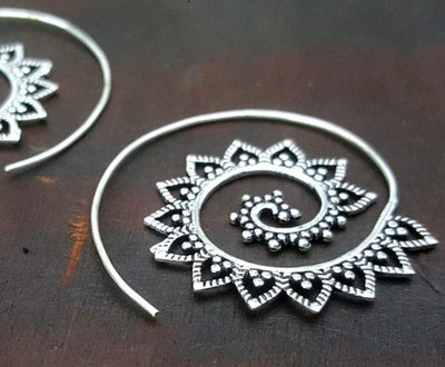 Gaya Mandala Earrings -- Culture Cross