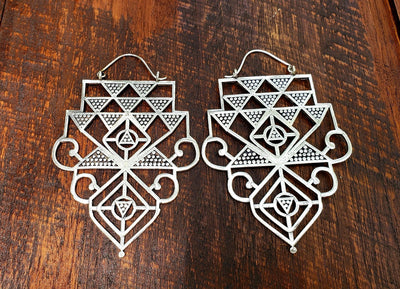 Geometric Statement Earrings -- Culture Cross