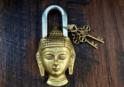 Gold Buddha Temple Lock -- Culture Cross
