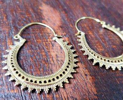 Gold Moondance Hoop Earrings -- Culture Cross