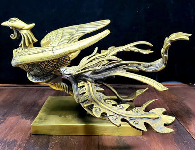 Golden Phoenix Statue -- Culture Cross
