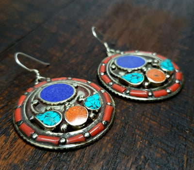 Himalayan Shokpa Earrings -- Culture Cross