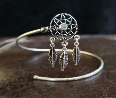Labradorite Dream Catcher Arm Cuff -- Culture Cross