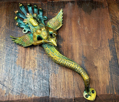 Large Naga Kanya Door Handle -- Culture Cross