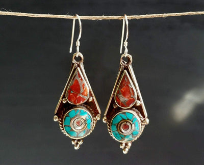 Lhasa Earrings -- Culture Cross