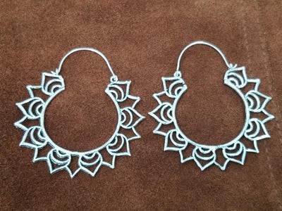Lotus Hoop Earrings -- Culture Cross