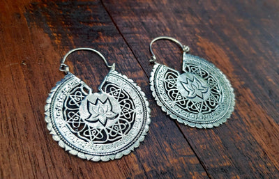 Lotus Temple Earrings -- Culture Cross