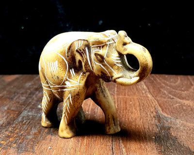 Lucky Elephant Carving from Nepal -- Culture Cross
