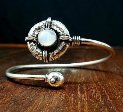 Moonstone Shield Bracelet -- Culture Cross