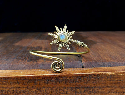 Moonstone Sunburst Bracelet -- Culture Cross