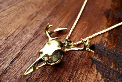 Mythical Bird Skull Necklace -- Culture Cross