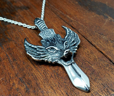 Pterolycus Wolf Sword necklace -- Culture Cross