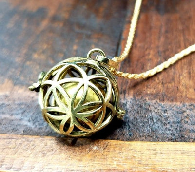 Seed of Life Harmony Bell Pendant -- Culture Cross
