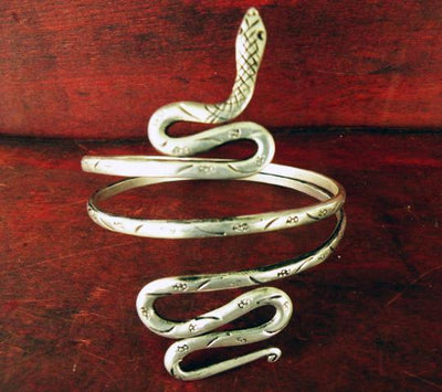 Silver Snake Arm Bracelet -- Culture Cross