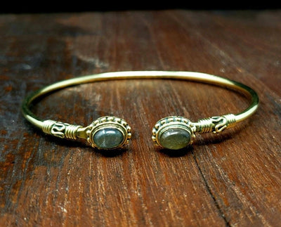 Simple Labradorite Bracelet -- Culture Cross