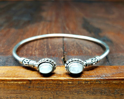 Simple Moonstone Adjustable Bracelet -- Culture Cross
