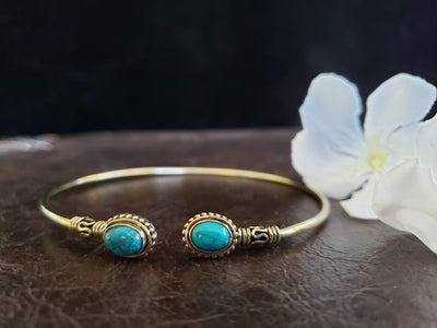 Simple Turquoise Arm Cuff -- Culture Cross