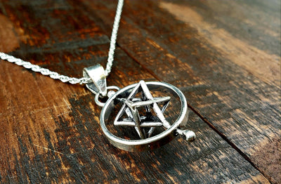 Spinning Star Sacred Geometry Pendant Necklace -- Culture Cross