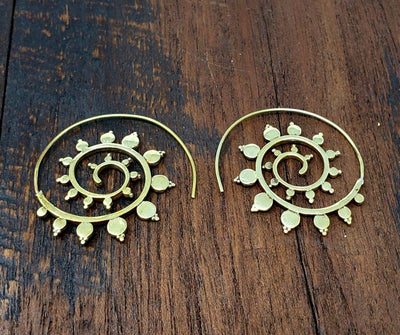 Spiral Vine Threader Earrings -- Culture Cross