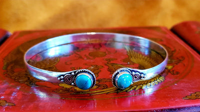 Temple Arm Cuff with Turquoise -- Culture Cross