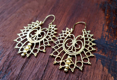Temple Mosaic Earrings -- Culture Cross