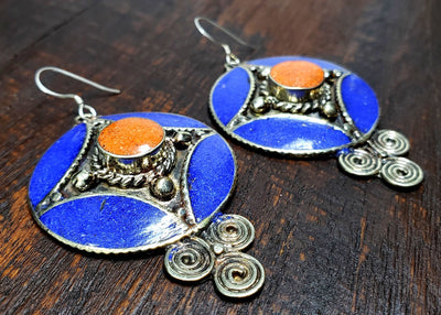 Tibetan Bazai Earrings -- Culture Cross