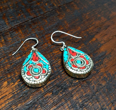Tibetan Champa Earrings -- Culture Cross