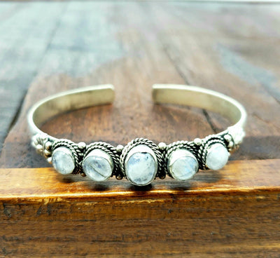 Tibetan Moonstone Chodha Bracelet -- Culture Cross