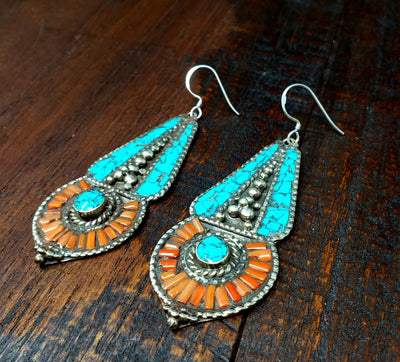 Tibetan Stupa Earrings -- Culture Cross