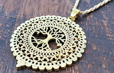 Tree of life Pendant Necklace -- Culture Cross