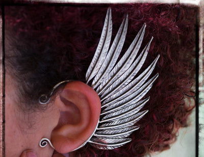 Tribal Feather Wing Ear Cuff -- Culture Cross