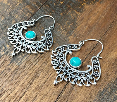 Turquoise Bohemian Earrings -- Culture Cross