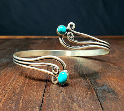 Turquoise Cloud Arm Cuff -- Culture Cross