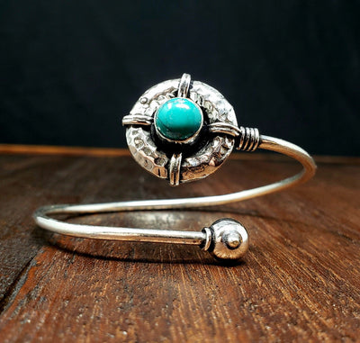 Turquoise Shield Bracelet -- Culture Cross
