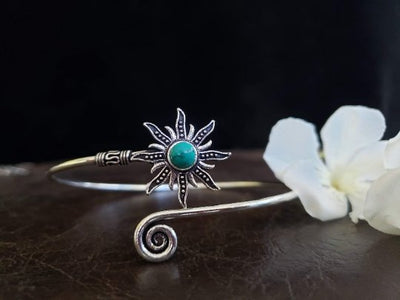 Turquoise Sunburst Arm Cuff -- Culture Cross