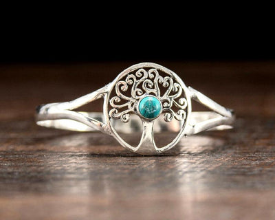 Turquoise Tree of Life Bracelet -- Culture Cross