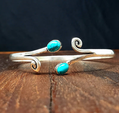 Winds of Turquoise Arm Cuff -- Culture Cross