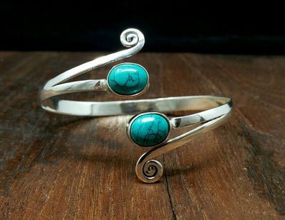 Winds of Turquoise Bracelet -- Culture Cross