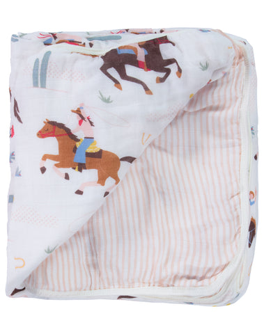 Cowgirl Triple-Layer Bamboo Blanket