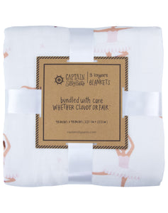 Ballerina Bamboo Triple-Layer Blanket